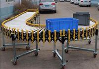 帶擋邊的無動力伸縮滾筒輸送機廠家直供
